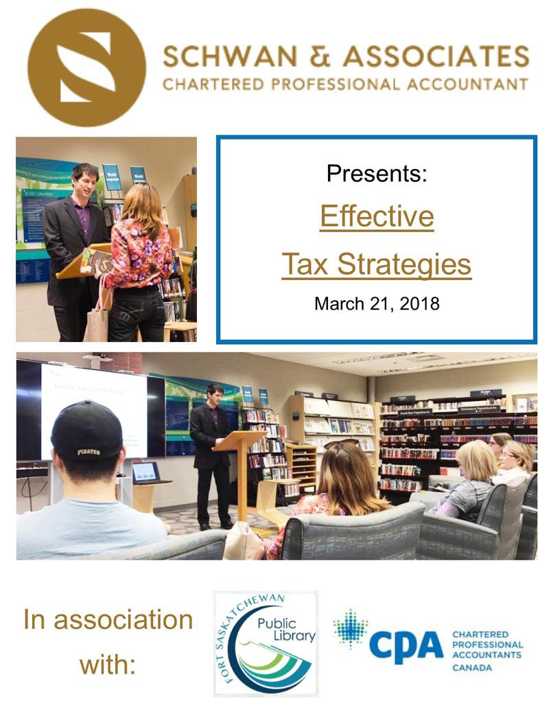 Schwan & Associates presents Effective Tax Strategies panel event